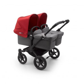 Bugaboo Donkey 3 Twin BLACK/GREY MELANGE-RED